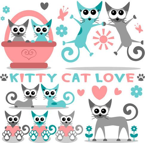 Download Vector kitten free vector download (163 Free vector) for ...