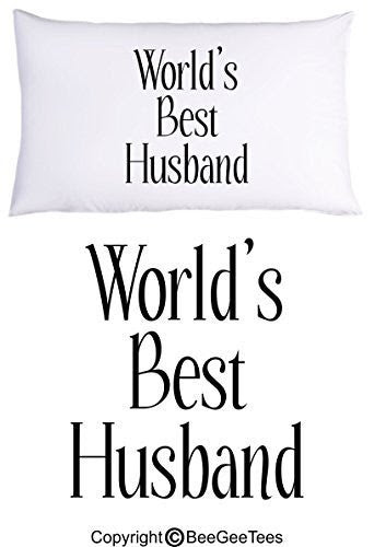 Worlds Best Husband Pillowcase Valentines Day Gift By Beegeetees