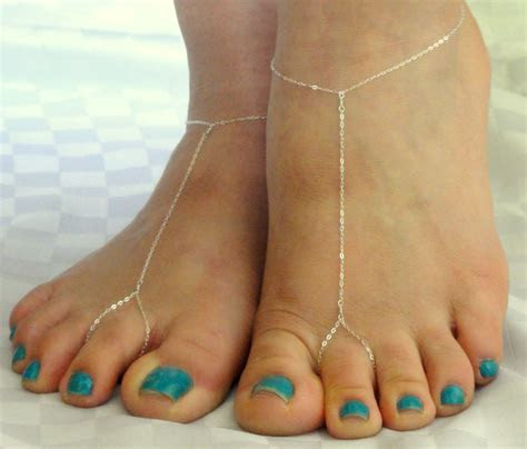 sterling silver barefoot sandals chain barefoot sandals