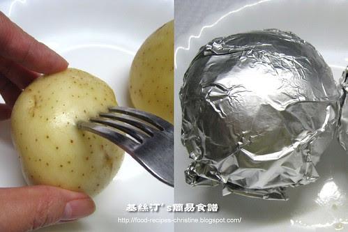 焗馬鈴薯製作圖 Baked Potatoes