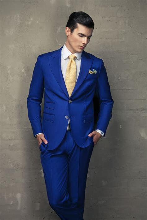 Blue And Gold Suit For Prom   Go Suits