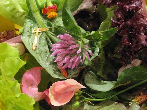 greens w flowers