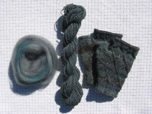 Fiber to yarn to mitts