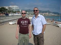 stu and paul on beach