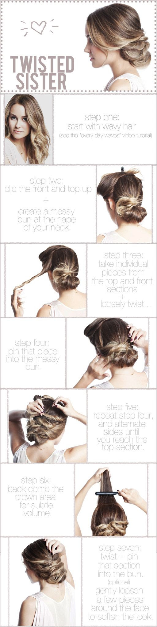 Messy bun twisty