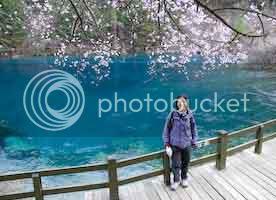 Jenny at Jiuzhaigou
