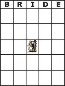 Print bridal bingo