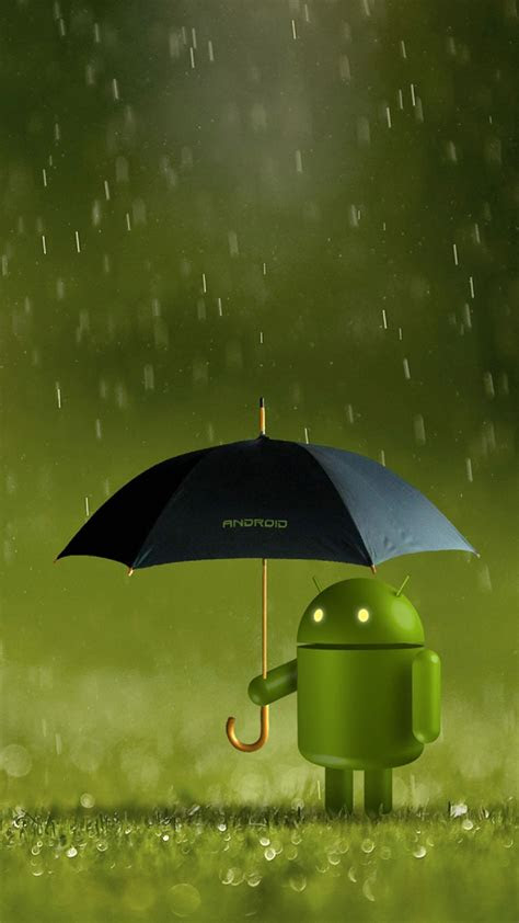 android robot doll rain  htc  wallpapers