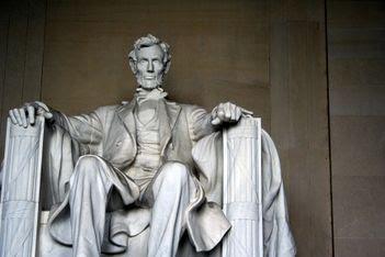 Lincoln presiding over the Mall