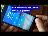 Video Cara Reset OPPO Neo 3 R831K Lupa Pola Kunci