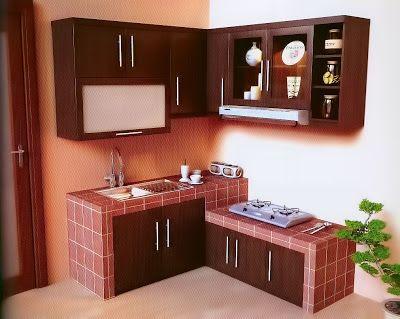 kitchen set minimalis warna coklat best of 2020