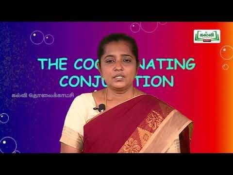 7 th English Bridge course Conjunctions - Present Continuous tense  Day order 7&8  Kalvi TV