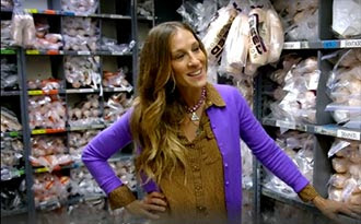 Sarah Jessica Parker in the shoe room
