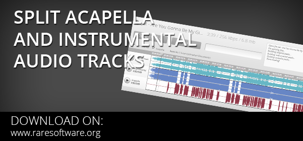 split acapella and instrumental split tracks 2.7 free download