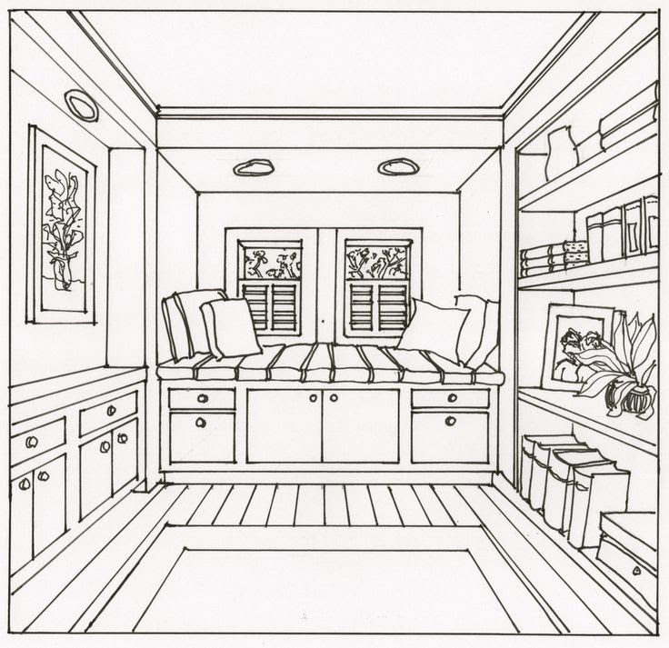 Two Point Perspective Building Drawing At Getdrawingscom Free For