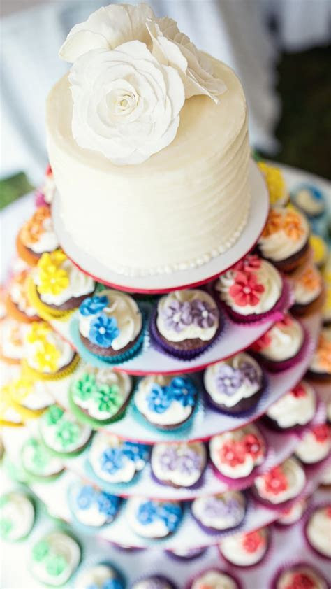 25  best ideas about Rainbow Wedding Cakes on Pinterest