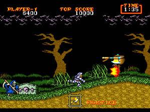 Ghouls 'n Ghosts Genesis Screenshot Screenshot 2