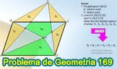 Problema de Geometría 169 (ESL): Paralelogramo, Punto Exterior, Pentágono, Triangulo, Suma de Áreas.