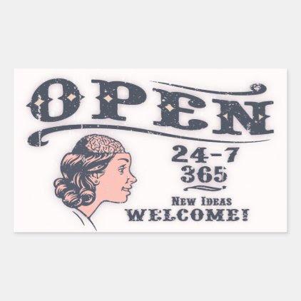 Open Mind -f Rectangular Sticker
