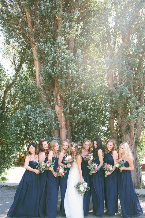 25  best ideas about Navy bridesmaid dresses on Pinterest