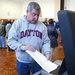 In Long Beach, N.Y., Ted Hommel voted at Lindell Elementary School.