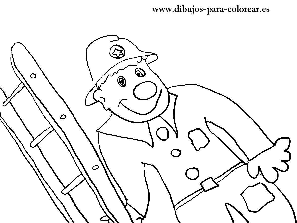 El Bombero Payaso Dibujos Para Colorear