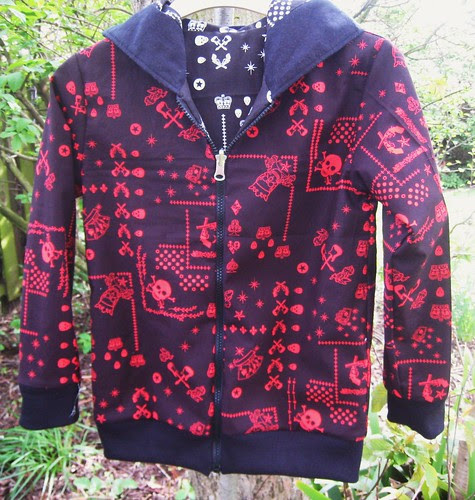 Pirate hoodie- red side