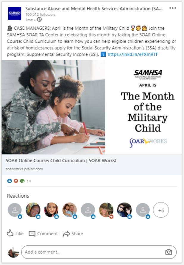 LinkedIn Post: Month of the Military Child