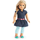 American Girl Bubble Dress & Leggings Outfit for Dolls