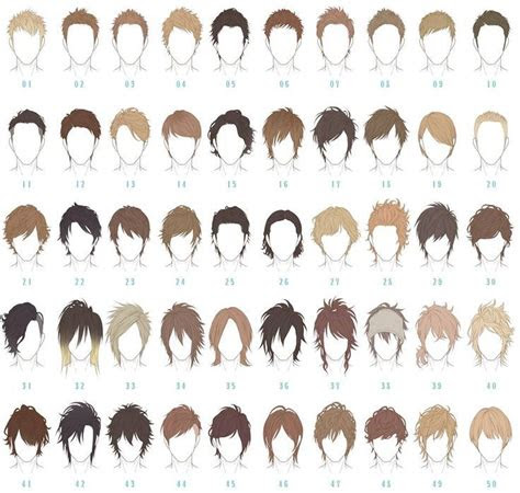 anime hairstyle reference guide    haircut