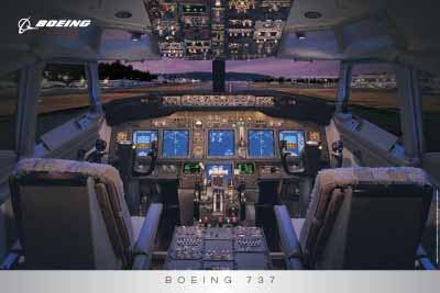 ボーイング737コックピットポスター