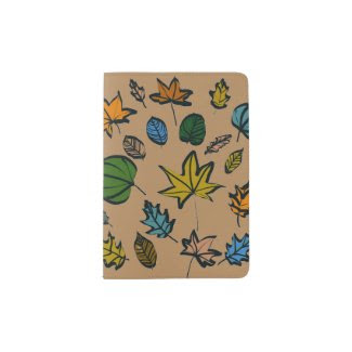 Autumn Leaves on Passport Holder