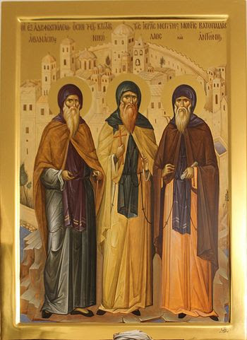 Monk Haralambie, The Venerable Founders of Vatopedi (Vatopedi Monastery, Mount Athos)