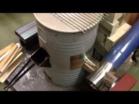 DIYで初めてのRocket Stove heater