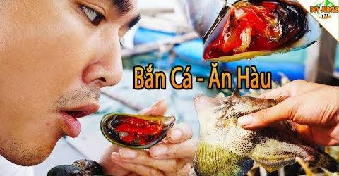 Ra Bè Bắn Cá Bò Da - Bắt Hàu Sống Ăn Tại Chỗ | Duy jungle