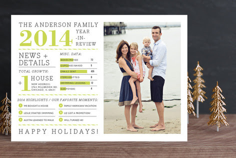 Family Year In Review Holiday Photo Cards By Cambr Minted