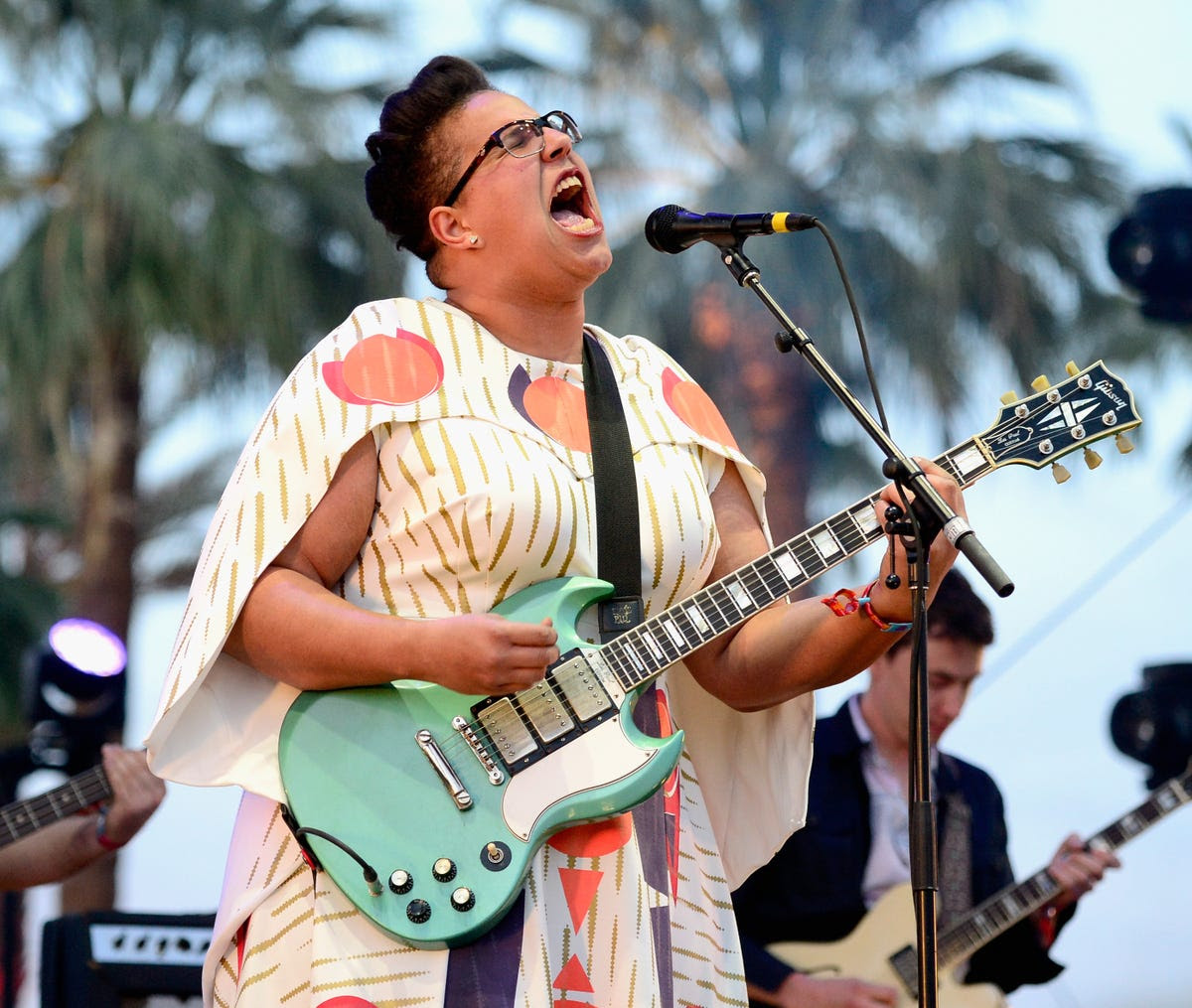 Brittany Howard of Alabama Shakes really gave it her all.