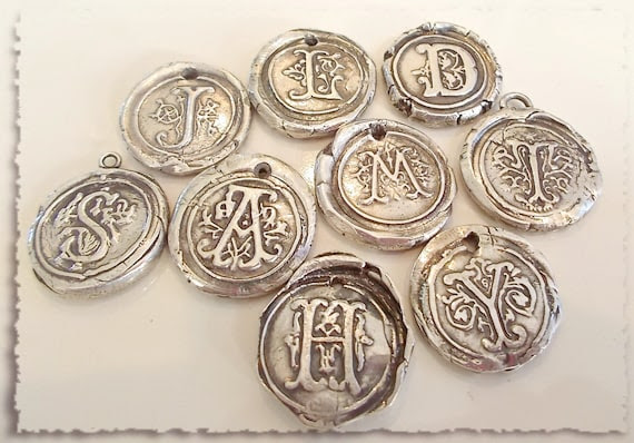 Your Daily Jewels offers these great wax seal pendants