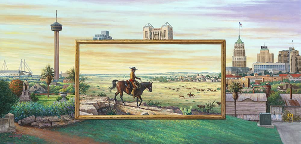 Amazon.com Art: San Antonio - The Early Dream : Oil : Lee Casbeer