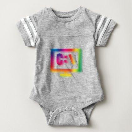 C:\ Nerds and Geeks Rejoice ! Baby Bodysuit