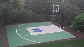 Pictures Of Dedicated Basketball Court Concrete Slabs