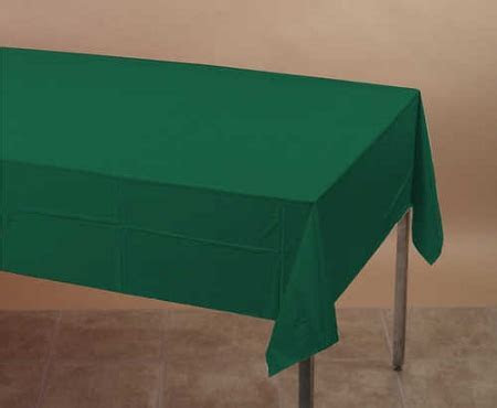 """Plastic backed paper lined tablecloths 54"""" x 108"""" black"""
