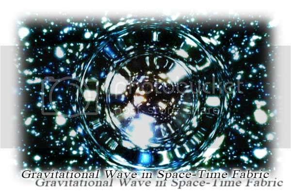 Gravitational Wave creates ripple in Space-Time fabric