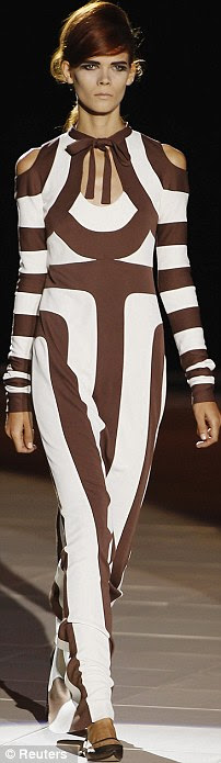 Brave in brown: Marc Jacobs models hit the runway with power with a more natural tone