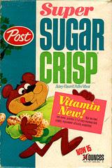 Super Sugar Crisp cereal box