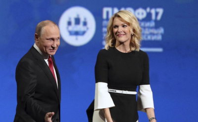Putin and Kelly in St. Petersburg. Quality entertainment.