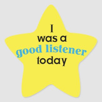 Good Listener Teacher Sticker sticker