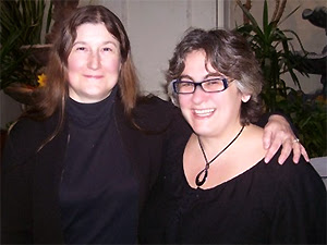 Estraven, Moderator of the Westchester Bisexual Support Group and Wendy Curry President of BiNet USA at teh PFLAG/Brenda Howard Memorial Award February 2009