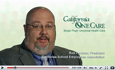 California School Employees Association President Rob Feckner explains why they support California OneCare: