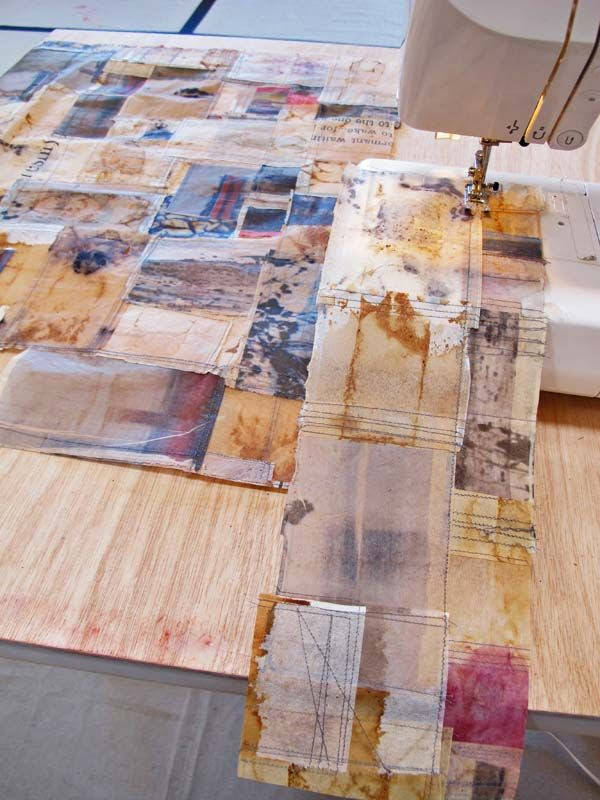 Jennifer Coyne Qudeen - work in progress in Santa Fe, October 2014